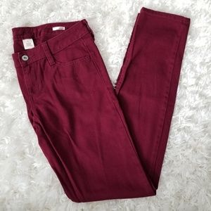 Deep Red Rouge Super Skinny Jeans by Arizona